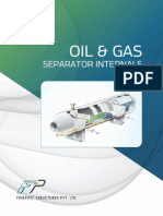 oil and gas separator internal