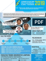 Call for Paper Simposium Nasional Ilmu Teknik 2019