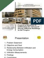 Day1 - Workshop B - JKR - Control of Moisture & Infiltration for Advanced Energy Efficient Buildings