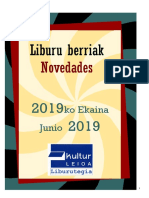 2019ko ekaineko liburu berriak - Novedades de junio del 2019