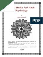 mental health and hindu psych