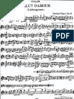 Elgar Edward Salut 039 Amour Liebesgruss Violin Part Transposed Major