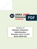 Bba Syllabus (Semesters 1-6) Version 3.0 (w.e.f. 2019 - 22 Batch)