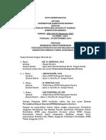 Nota Kesepakatan, Daftar Isi Kua-p 2015