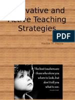Innovative and Active Teaching Strategies
