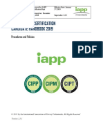 IAPP Privacy Certification Candidate Handbook 3.3.1