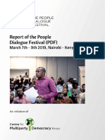 Report of the People Dialogue Festival by CMD-Kenya