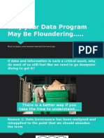 Why Your Data Strategy May Be Floundering
