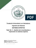 Incertidumbre e Imprecisión en Sistemas Expertos IEEE830