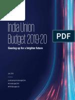 India Union Budget 2019 20
