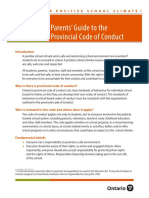Parent's Guide To Provincial Code of Conduct