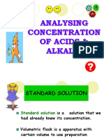 7.3 (b) Preparing Standard Solution