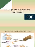 Mass and heat transfer