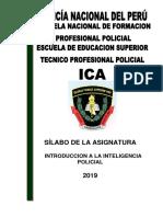 Silabo Introduccion a La Inteligencia Policial 2019