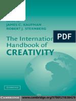 The International Hanbook of  Creativity
