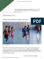 Juegos de Resistencia Para El Desarrollo Físico de Niños_a