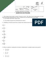 revisão 2 frações números mistos e operações com frações (1).DOC