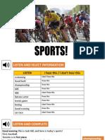 English Work - Sport