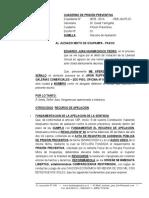 Recurso de Apelacion de Prision Preventiva - Eduardo Juan Huamachuco Pedro