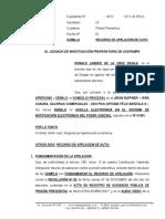 Recurso de Apelacion de Prision Preventiva - Ronald Lander de La Cruz Davila