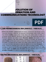 Evolution of ICT