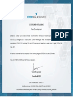 Web Development Training - Certificate of Completion