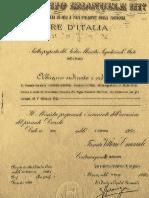 Decreto Di Nomina Di Comandante Generale Di Gaetano Guerrera Guerrero