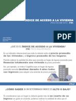 Indice de Acceso a La Vivienda - 28 Agosto 2019