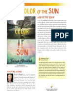 The Color of the Sun by David Almond Discussion Guide
