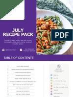 July 2019 Recipe Pack (Starter Pack)