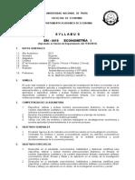 Syllabus Econometria i