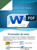 Procesadores de texto Microsoft Word.pptx