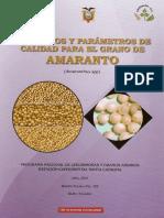 parametros de calidad para el grano de amaranto