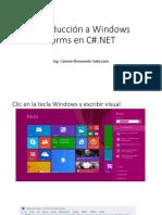 Introducción a Windows Forms en C