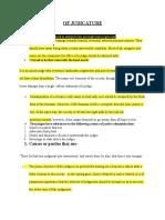 Of Judicature Summary
