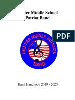 dexter middle school band handbook