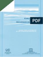 evaluacion de recursos hidricos
