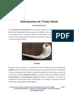 Mantenimiento de instrumentos de viento metal - Prof. David Tovar
