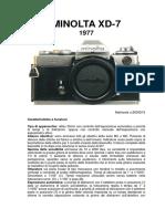 Minolta XD-7 - Ed.1977 Matricola n.2034215