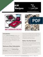 Free b w Darkroom Recipes 1 1