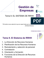 Tema 9. El Sistema de RRHH