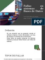 Fallas en Sistemas de Bases de Datos