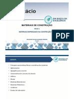 MATERIAIS DE CONSTRUÇÃO - AULA 1