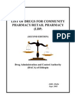 Retail Pharmacy Drug List