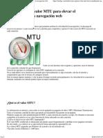 Ajustar el valor MTU para elevar el rendimiento en la navegacion web