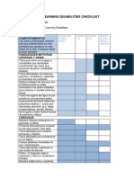 Learning Disabilities Checklist Traducida