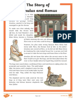 the Story of Romulus and Remus Differentiated Differentiated Reading Comprehension Activity Ver 3