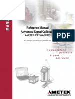 Ametek Jofra ASC300 Signal Calibrator Reference Manual