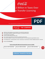 Coca-Cola Foreign Transfer Licensing taxes