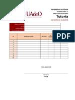 Formato ACTUAL de Seguimientos Tutorías UAdeO